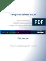 Transplant in ICU/CCM board review