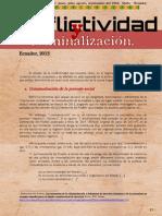 Conflictividad y criminalización