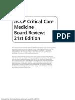 Critical care Medicine Board review 2013