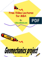Free Video Lectures for Mba