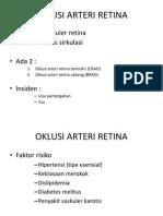 Oklusi Arteri Retina