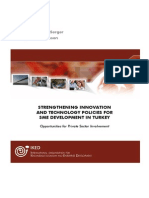 Strengthening Innovation and Technology Policies for SME Development in Turkey