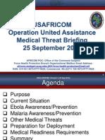 AFRICOM MedicalThreatBrief OperationUnitedAssistance 25SEP2014 Version3 Approved UNCLASSIFIED