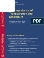 importance transparancy and disclosour
