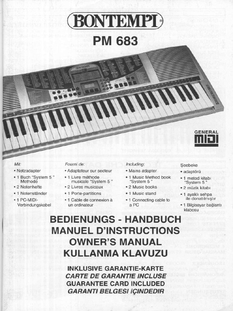 DOWNLOAD BONTEMPI PM 683 ANLEITUNG