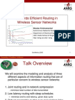 Towards Efficient Routing WSN