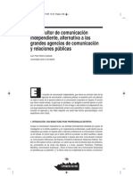 El consultor independiente, alternativa a las grandes agencias de comunicación y relaciones públicas