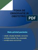 86661031 Foaia de Observatie in Obstetrică