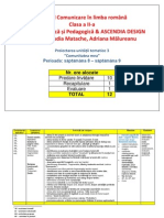 Model Proiectare_Comunicare in Limba Romana_clasa a II-A_EDP