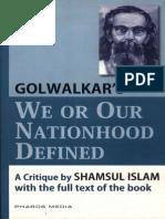 We or Our Nationhood Defined - Golwalkar's