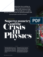 Supersymmetry a crisis in physics