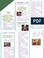Leaflet Jajanan Sehat Anak Sekolah