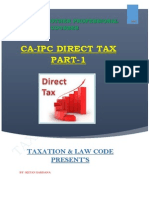 CA IPCC Direct Tax Nov2014