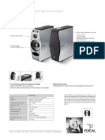 Focal Xs Book Specification Sheet2
