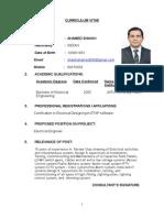Ahamed-Electrical CV-Al Jazera Format