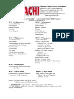 Saibachi Price List as of August 2014