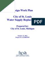 Design work plan, Water supply Replacement plan