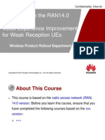 Introduction to the RAN14.0 Feature–Voice Experience Improvement for Weak Reception UEs V0.4