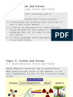 Topic 6.1 Gravitational Force and Fields
