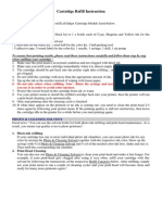 Cartridge Refill Instructions-English