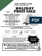Bel Air Lions Club Fruit Sale flyer...