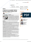 5 Factors to Consider Before Buying Critical Illness Cover - Moneycontrol