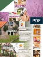 Heidefarmen Rundbrief 2015 - unser Hotel Katalog für Wellnessurlaub in Deutschland