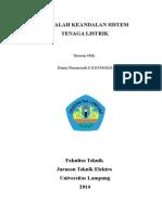 MAKALAH KEANDALAN SISTEM TENAGA LISTRIK.doc
