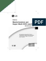 Manuale Masterizzatore LG GSA-5166D GSA-2166D GSA-2164D