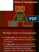 Role of Sales Person,Organisation Structure