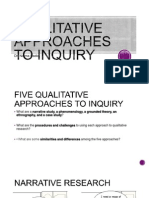 WEEK 5- Five Qualitative Approaches to Inquiry