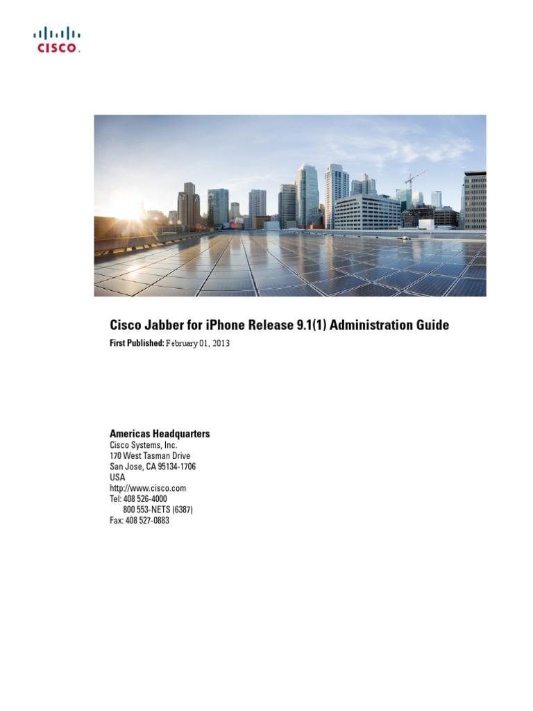 JABI BK J006C103 00 Jabber iPhone Admin Guide 9 1 1 | I