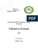 2. Government Crimes Against Humanity in Falluja 2014