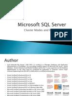 Microsoft SQL Server Clusters