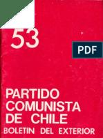 Boletín del Exterior Partido Comunista de Chile Nº53