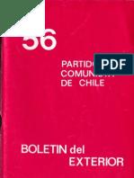 Boletín del Exterior Partido Comunista de Chile Nº56