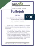 Report of April,s Crimes in Fallujah Presented to UN