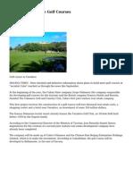 Cuba to Build More Golf Courses