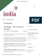 Coachings – the Good and the Bad _ Khelo India
