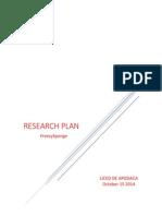 RESEARCHING PLAN