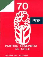 Boletín del Exterior Partido Comunista de Chile Nº70