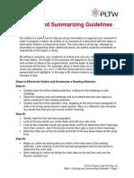 Summarizing Guidelines