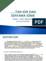 Ikatan Ion Dan Senyawa Ionik