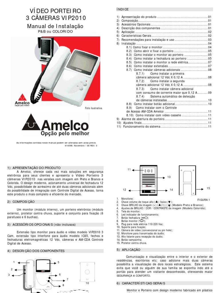 MANUAL VIDEO PORTEIRO AMELCO VIP 2010.pdf