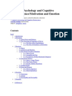 Cognitive Psychology and Cognitive Neuroscience Motivation