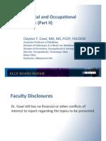 Enviromental/occupational Lung disease/Pulmonary Board review