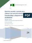 CU00262A Ejercicio resuelto ordena serie numeros pseudocodigo diagrama flujo.pdf