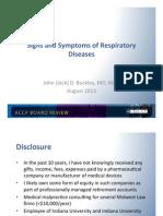 Symptoms of Pulmonary Disease/Pulmonary board review