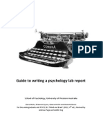 01 Guide to Writing a Lab Report - 2012