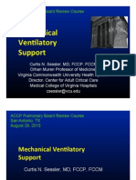Mechanical Ventilation/Pulmonary board review